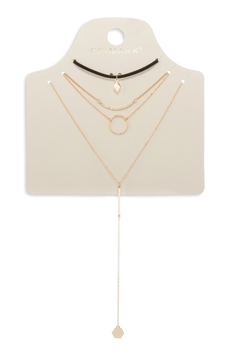 Multi Pack Choker Necklace Set, Primark, The Mall Luton