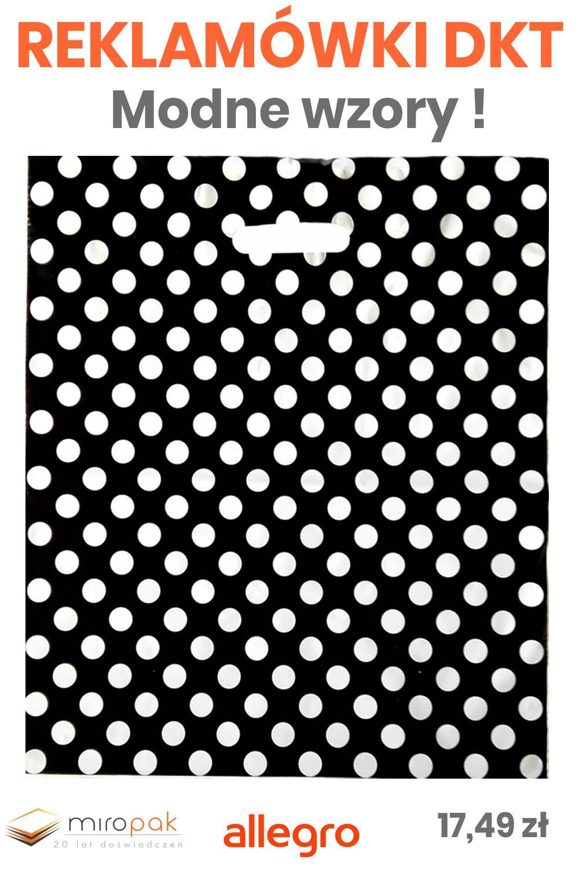 50x Czarna Reklamowka W Biale Kropki Idealna Dla Sklepow Zwolniona Z Oplaty Recyklingowej Eyeshadow Beauty Allegro