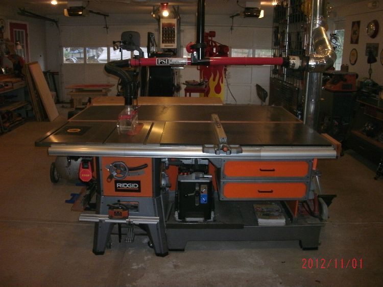 Table saw cabinet design the garage journal board shop router table greentooth Choice Image