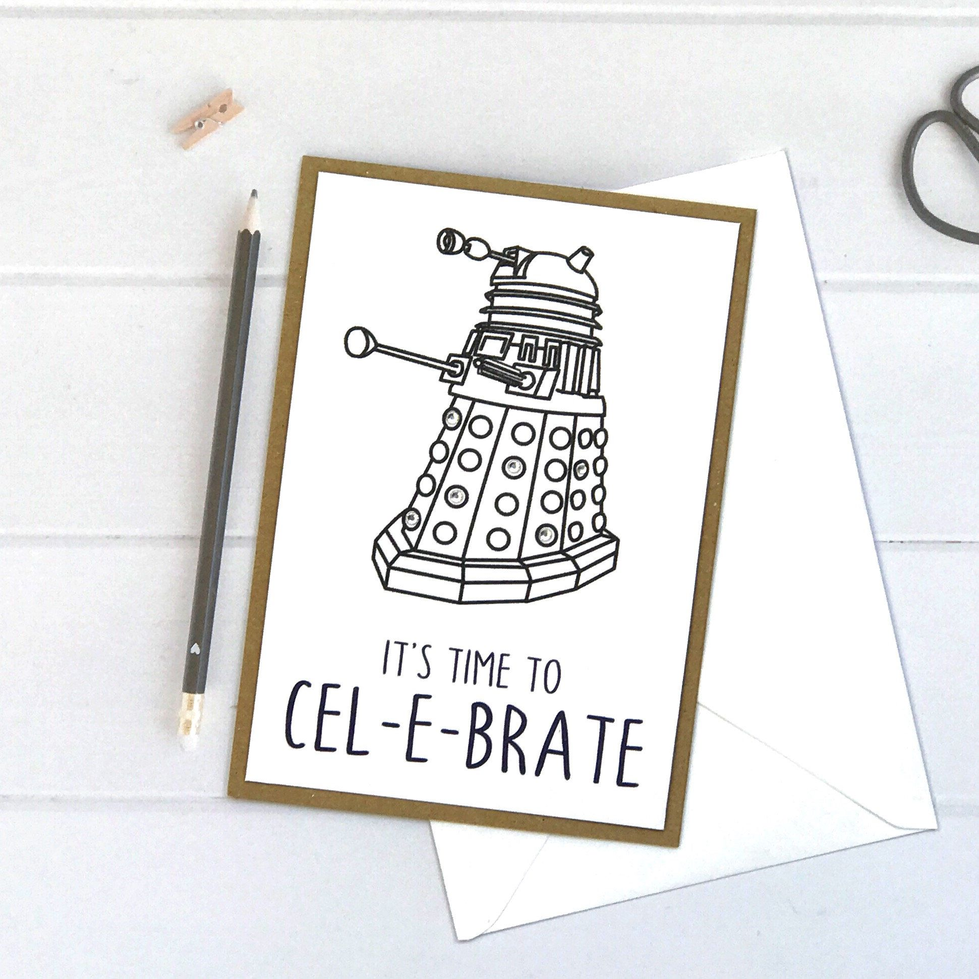 A Personal Favourite From My Etsy Shop Https Www Etsy Com Uk Listing 624003379 Dr Who Card Doctor Who Card Dr Who Karten