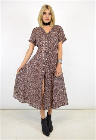 72fd23052edd VINTAGE 90S GRUNGE BUTTON UP DRESS | Baylster in 2019 | Grunge dress ...