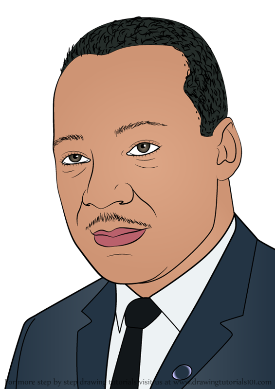 Learn How To Draw Martin Luther King Jr Celebrities Step By Step Drawing Tutorials Martin Luther King Jr King Jr Martin Luther King