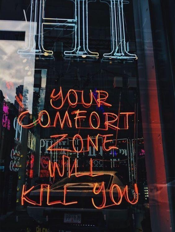 Ihre Komfortzone wird Sie töten #planningyourday