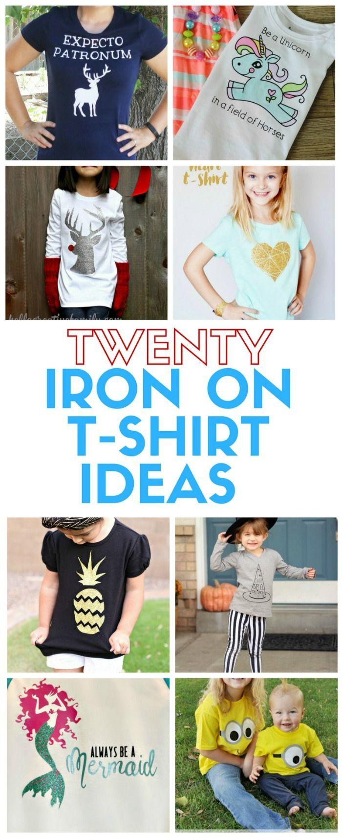20 T Shirt Ideas Using Heat Transfer Vinyl The Crafty Blog Stalker Vinyl Tshirts Heat Transfer Vinyl Easy Diy Crafts
