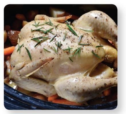 Slow Cooked Lemon-Rosemary Chicken – Maximum flavour with minimal preparation. This cook-from-frozen recipe is perfect for entertaining small groups.  For more tasty poultry recipes visit: grannys.ca