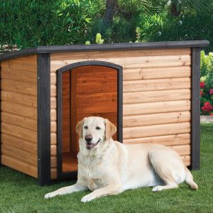 Top Paw Outback Log Cabin Dog House Insulated Dog House Dog