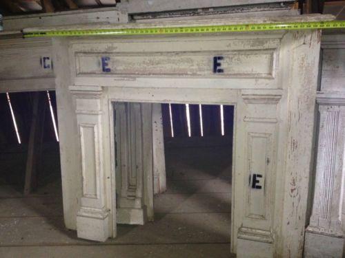 Vintage Fireplace Mantle 1800's E REDUCED | eBay