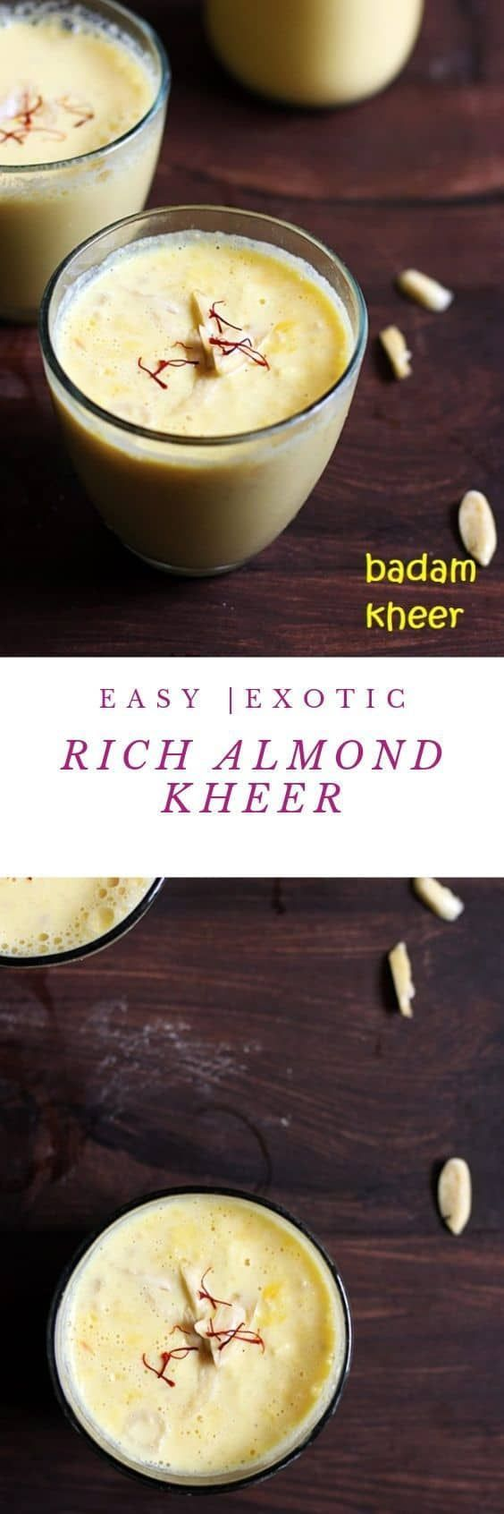 Badam Kheer Recipe How To Make Badam Kheer Recipe With Step By Step Photos A Creamy And Rich Indian Kheer Recipe Made Kheer Recipe Recipes Impressive Recipes