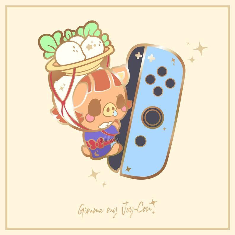Preorder Animal Crossing Enamel Pin Gimme My Joycon Daisy Etsy Enamel Pins Enamel Pin Collection Animal Crossing