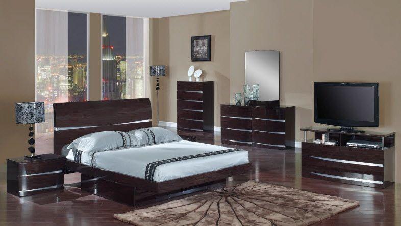 Exclusive Wood Bedroom Contemporary Design Pembroke Pines Florida Global  Furniture Aurora