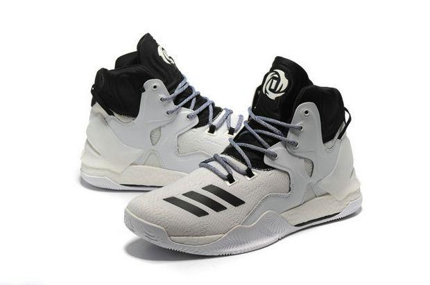 2018 Where To Buy adidas D Rose 7 VII White Black Oreo Brand sneaker ... 1d39caf36c
