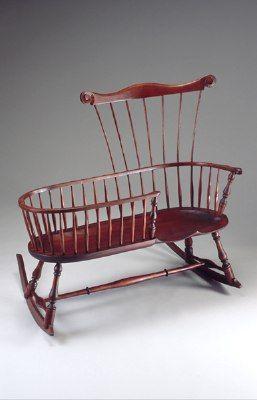 Wooden Nanny Rocker Chair