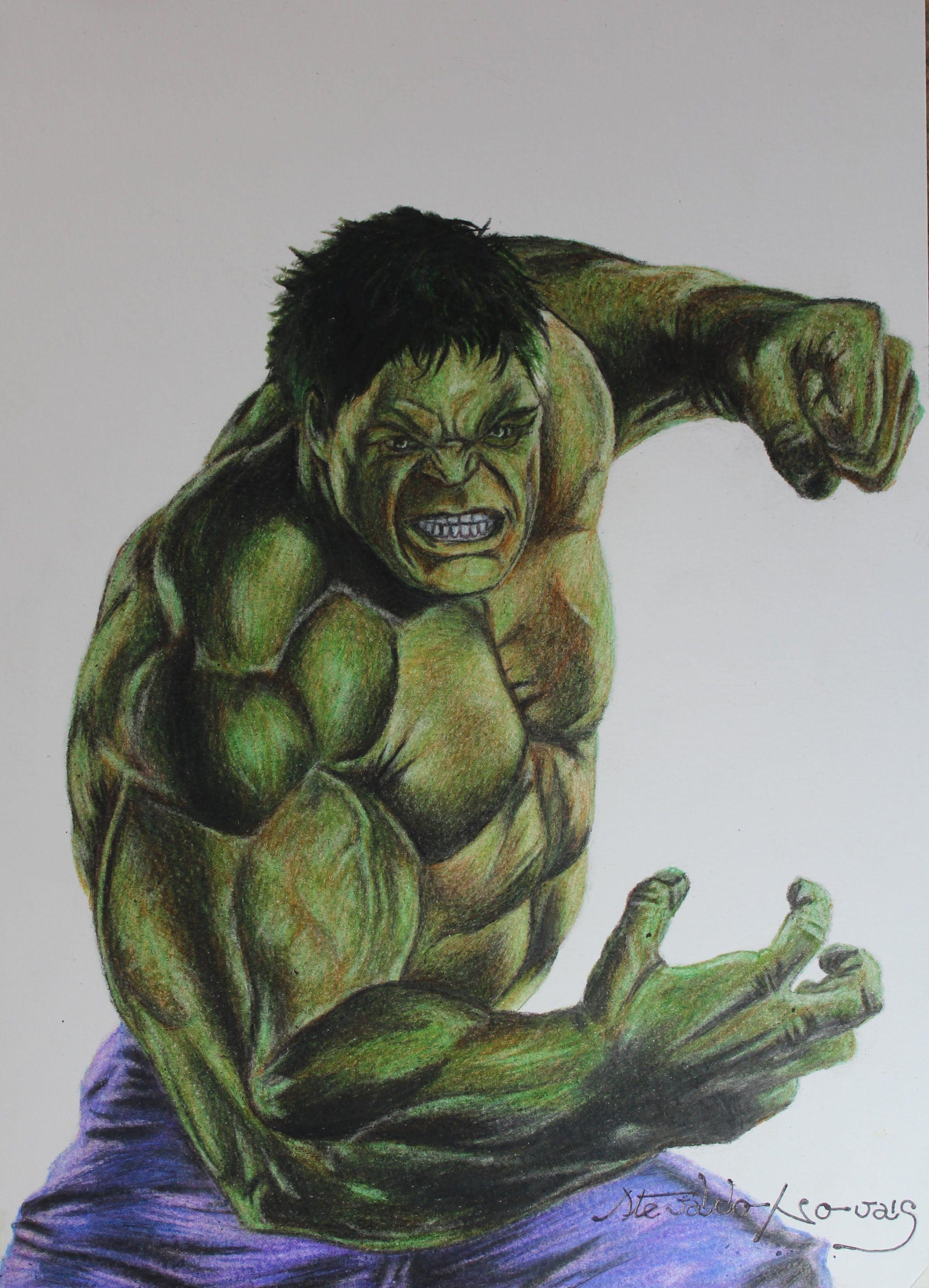 Incrivel Hulck Minimalist drawing incredible hulk i desenhando o incrível hulk   art