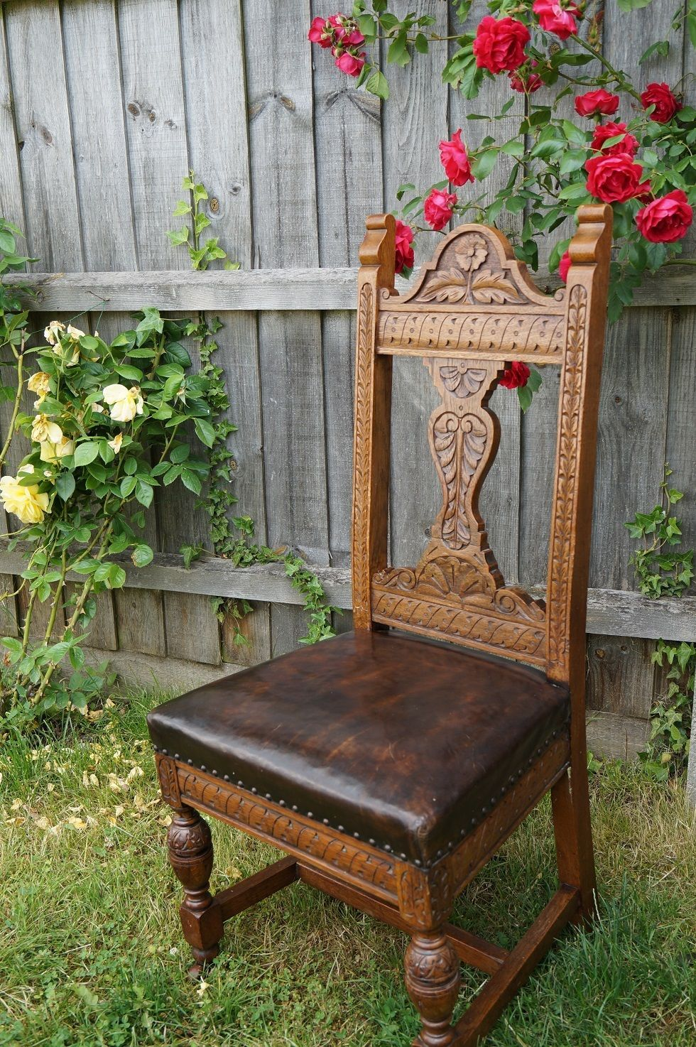 18th Century Carved Oak Chair