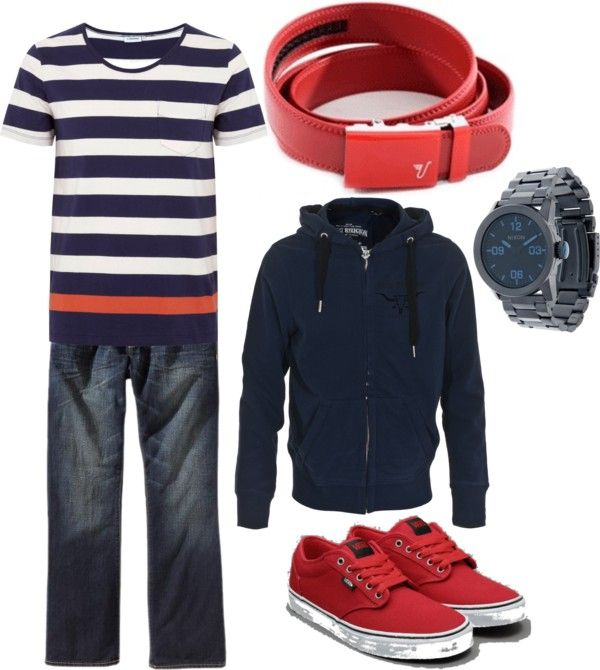 """Red and Blue"" by kristinmadsen on Polyvore"