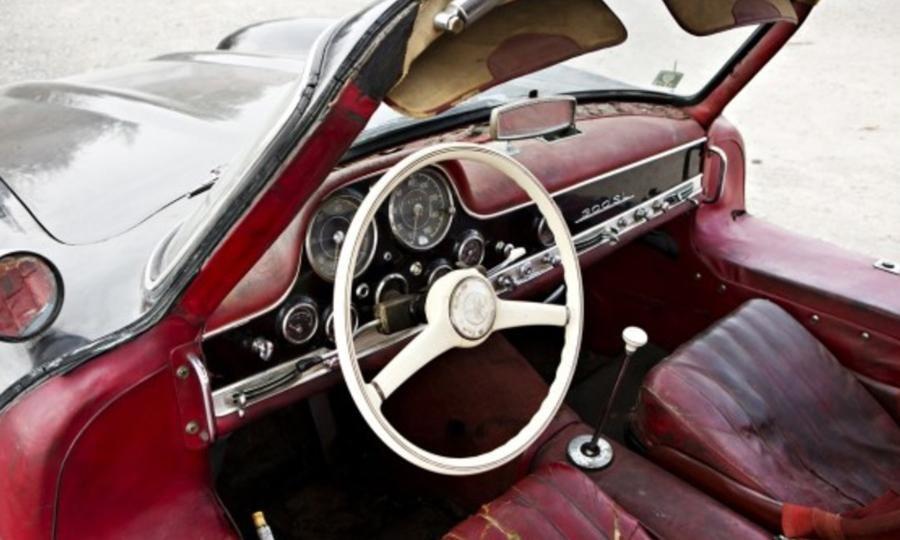 Interior Cabin Leather Patina Worn 1956 Mercedes Benz 300sl
