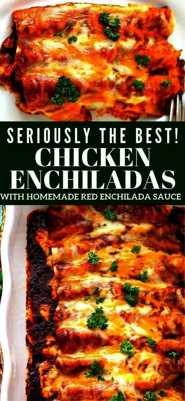 delicious Chicken with Homemade Red Enchilada Sauce is packed with flavorEvery layer of these delicious Chicken with Homemade Red Enchilada Sauce is packed with flavor We...