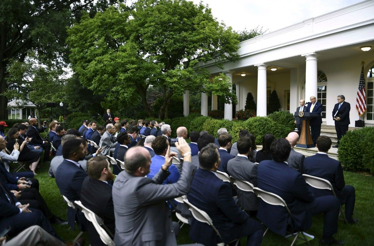 Scuffle Breaks Out In Rose Garden After Trump's Press