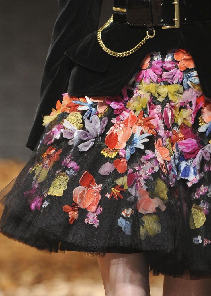 flowers x black
