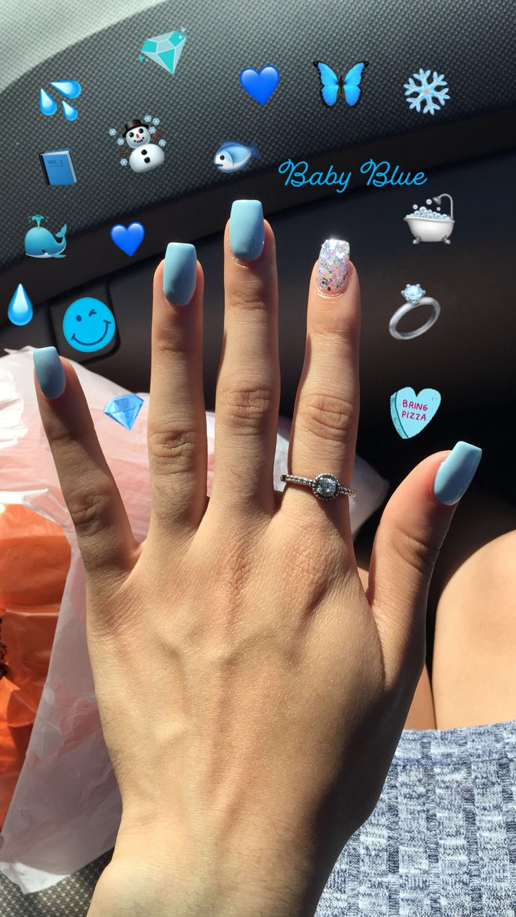 134 Beautiful Acrylic Short Square Nails Design For French Manicure Nails 51 Armaweb07 Com In 2020 Acrylic Nails Coffin Short Blue Acrylic Nails Best Acrylic Nails