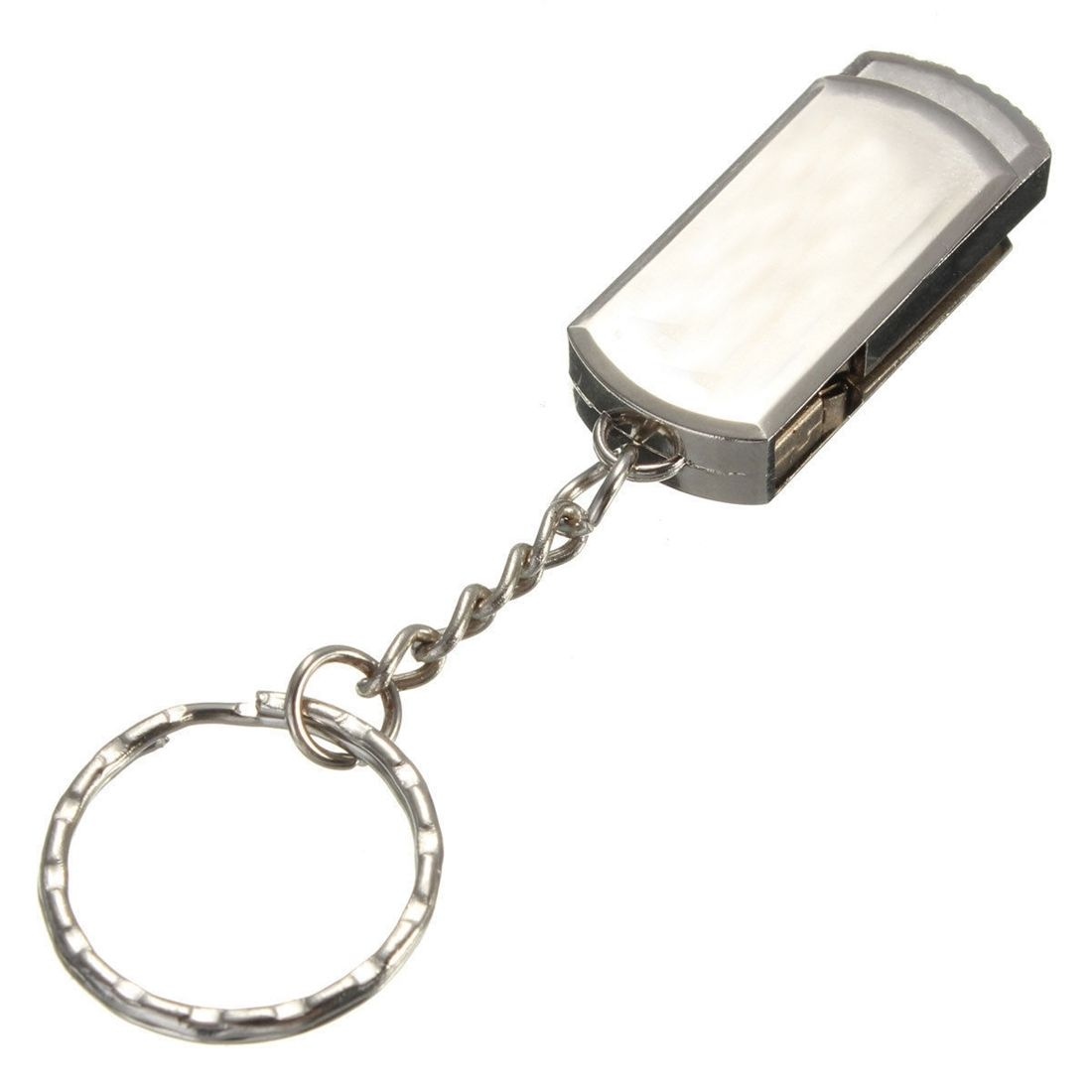 Office 128Mb Usb 2.0 Metal Keychain Flash Memory