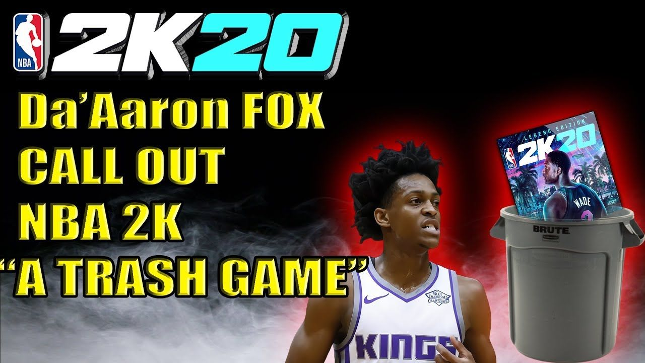 Da Aaron Fox Calls Out Nba 2k20 For Being A Trash Game Nba