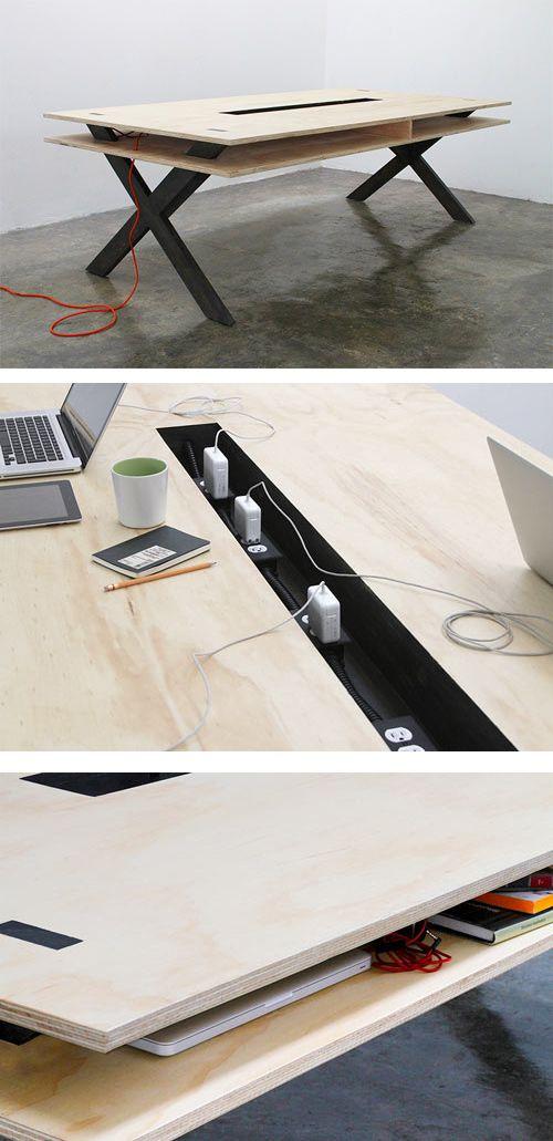 Work Table 002 By Miguel De La Garza Read More At Design Milk:  Http://design Milk.com/perfect For Coworking Work Table 002 By Miguel De La  Garza/# ...