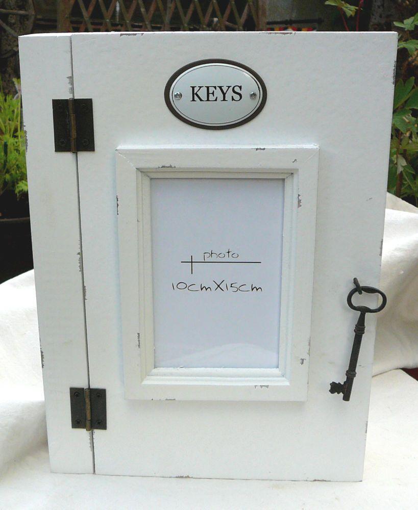 Schlüsselschrank Schlüsselkasten Shabby Chic weiß Landhaus | Shabby ...
