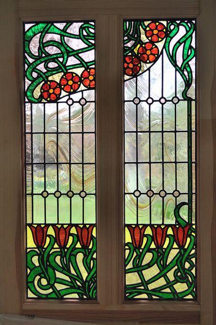 art nouveau door by john hardisty stained glass design. Black Bedroom Furniture Sets. Home Design Ideas