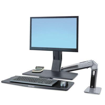 Ergotron WorkFit-A Sit-Stand Height Adjustable Workstation/Cart