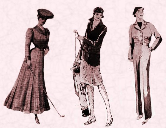 Golf Clothing For Women Back In The Day