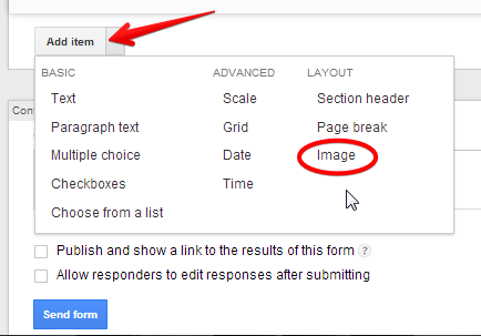 how to add images to google forms