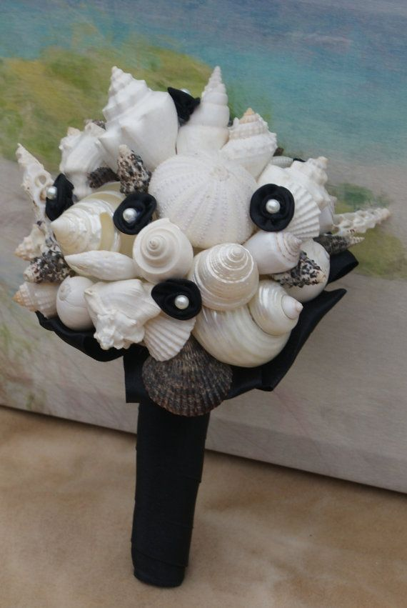 Bridesmaid Bridal Seashell Wedding Bouquet by HeartoftheOceanSSB, $85.00
