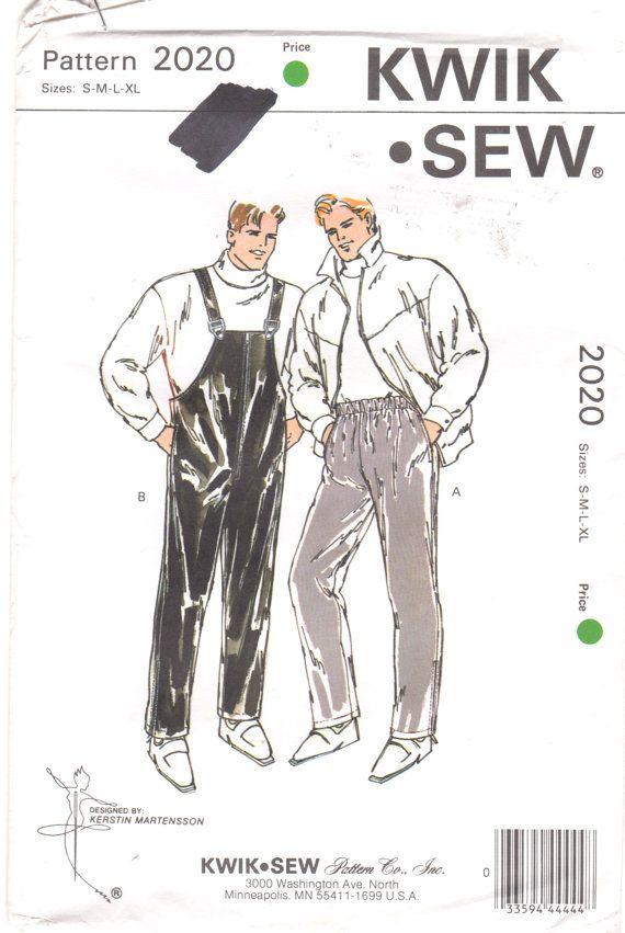 Kwik Sew 2020 Mens Rain and Ski Pants Pattern Size S - XL Waist 28 ...