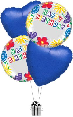 Happy birthday balloons delivered personalised happy birthday happy birthday balloons delivered personalised happy birthday flowers special balloon bouquet bookmarktalkfo Image collections