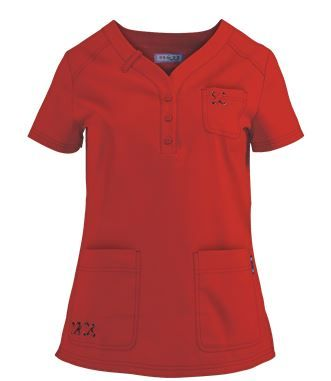 Koi Scrubs Josie Top in Chili Red - Style # K277 #uniformadvantage #koiscrubs #medicalscrubs #nurse #dental #veterinary