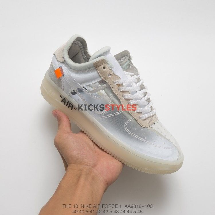 huge discount 9bdea e6395 Custom Nike Air Force 1 Off-White Translucent