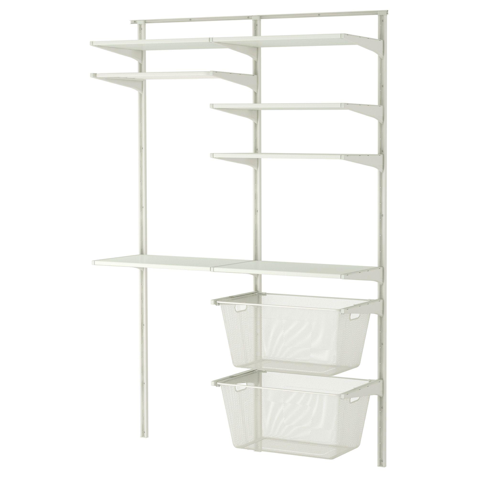 algot wall upright shelves drying rack white 132x41x199 cm. Black Bedroom Furniture Sets. Home Design Ideas