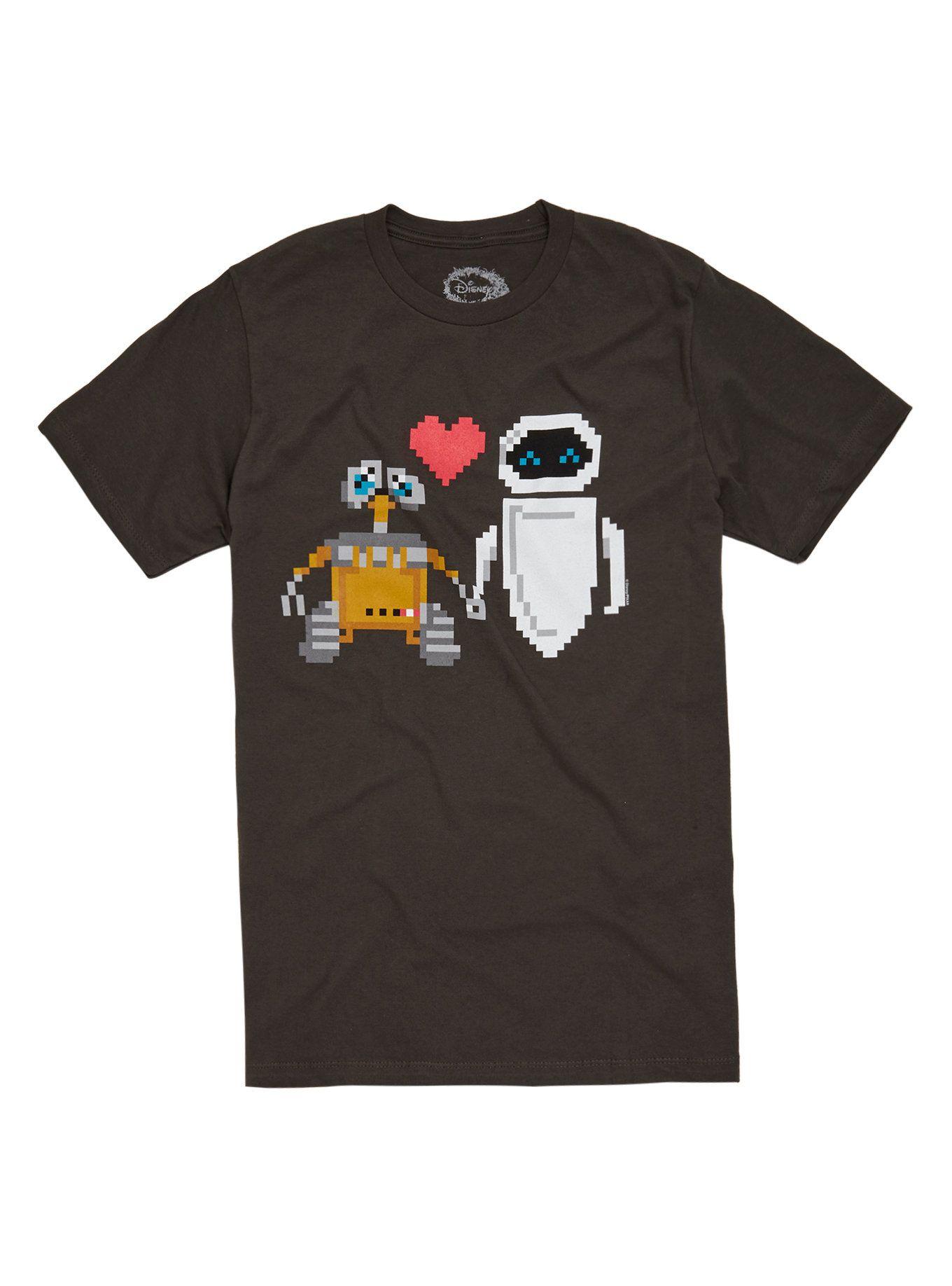 Disney Wall E Amp Eve Love T Shirt
