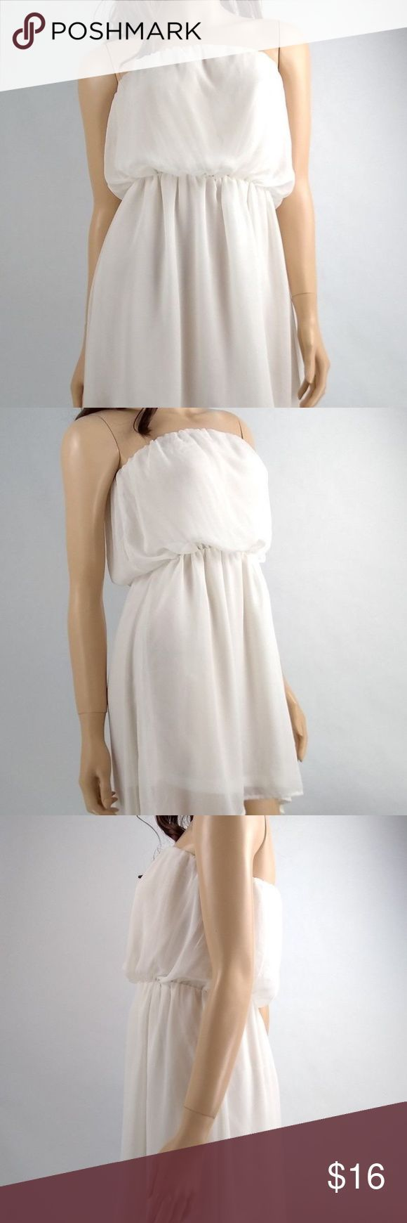 Poetry Ärmelloses weißes kurzes Kleid Größe Small Poetry Ärmelloses weißes #weißekleiderkurz