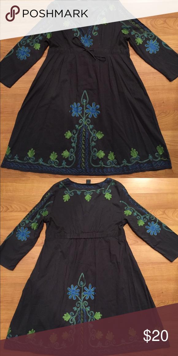 SWEET SUMMER DRESS👗👗👗 100% cotton.  Lots of detail, light weight. Dresses Long Sleeve