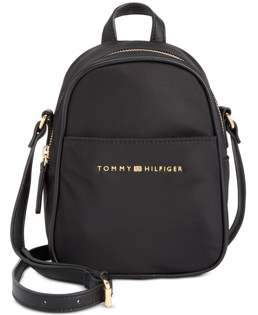 4a13b8b007 Tommy Hilfiger Juliette Nylon Mini Backpack Crossbody   Tech   Tommy ...