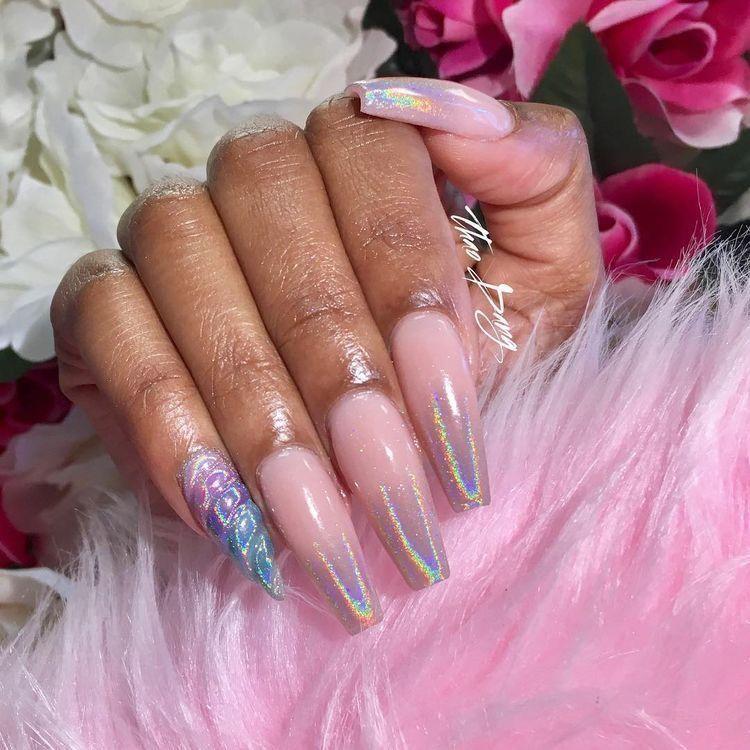 ✨Pinterest: shana0385✨   Nails   Pinterest   Coffin nails, Unicorn ...
