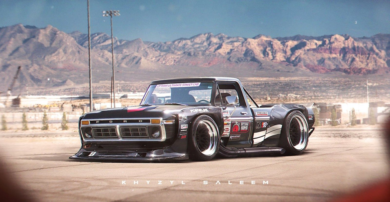 Widebody 1970s Ford F Series Rendering Is Out Of This World You