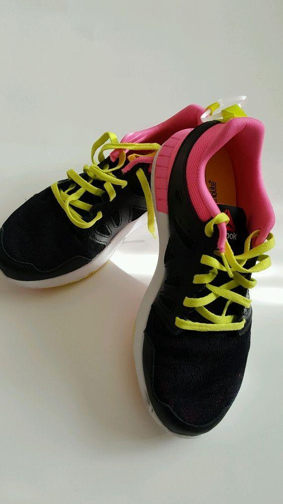 727ac252f Reebok ZPrint 3D Unisex Black Pink Yellow Running Shoes Size 5 Grade School  In