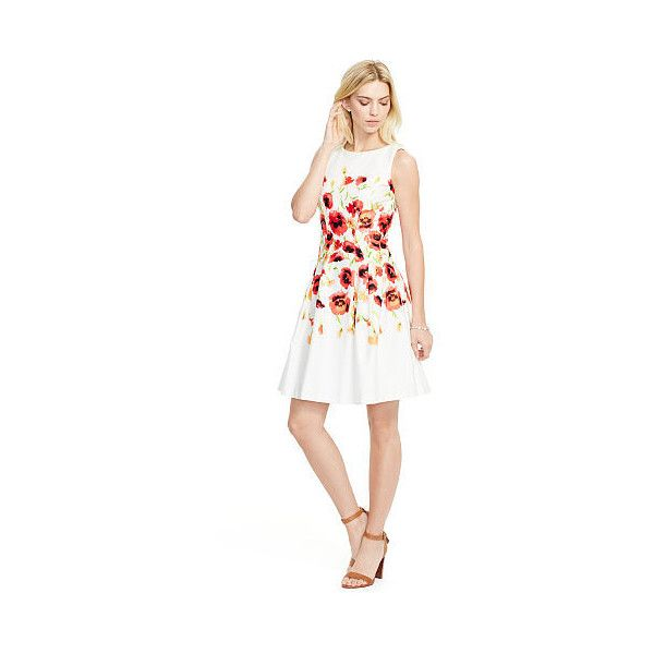 Ralph Lauren Lauren Floral Fit-And-Flare Dress ($139) ❤ liked on