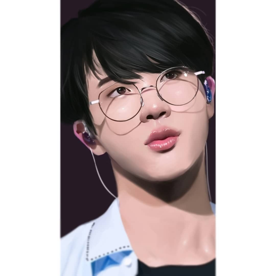 "bts fanart on Instagram: ""Jin's birthday collab is up!"