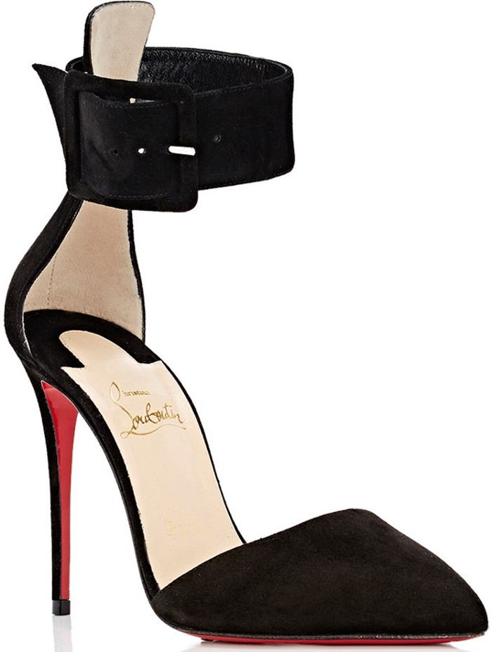 4ac109d9e35 Christian Louboutin 'Harler' Pointed-Toe Ankle-Strap Pumps ...