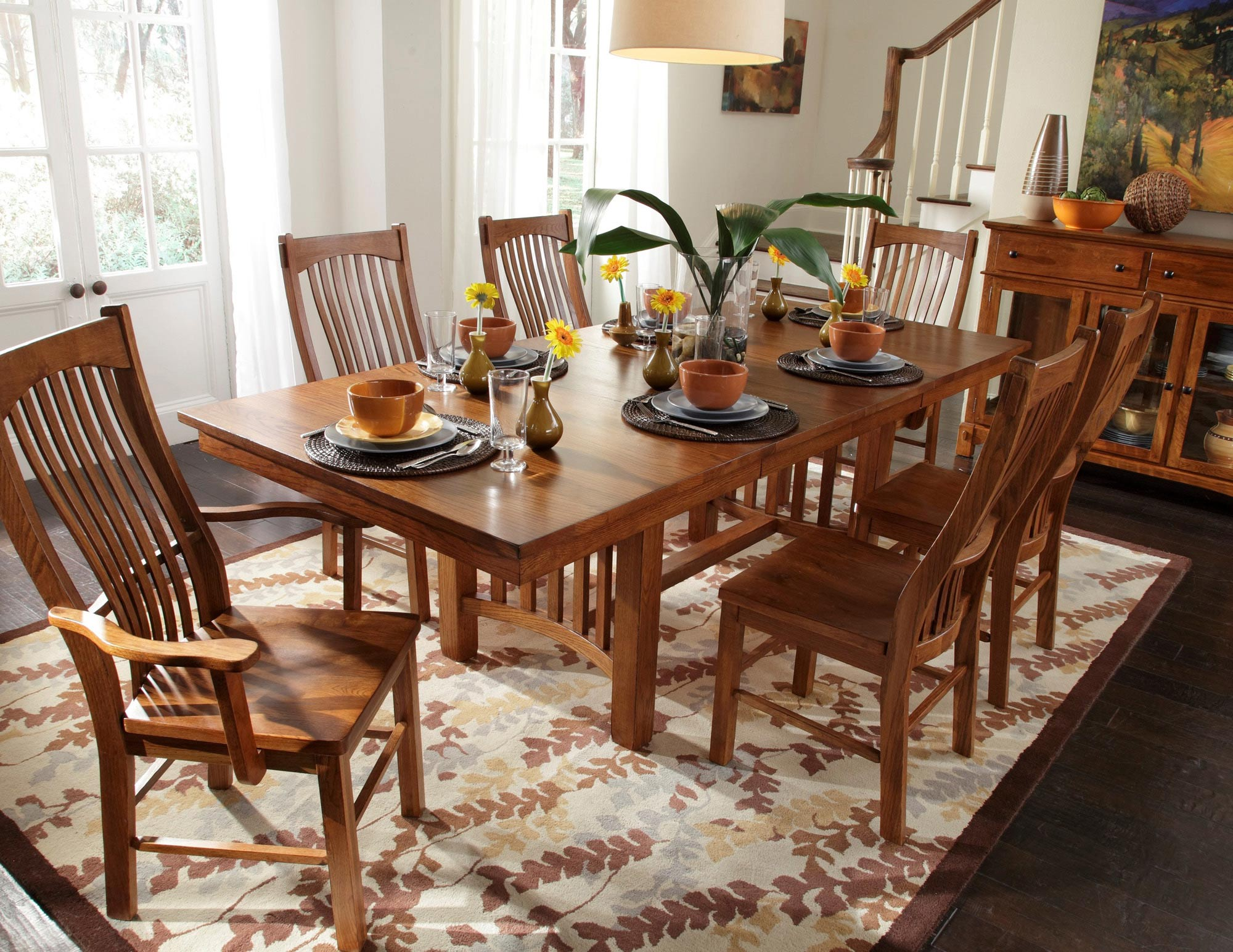 This Is Our Table Set Except With The Bench And No Arm Chairs