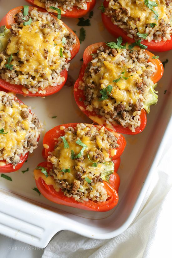 Turkey Stuffed Peppers Recipe Stuffed Peppers Recipes Food